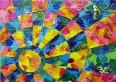 Christina Lee, High School Student, Tissue Collage Art, #Art4Literacy