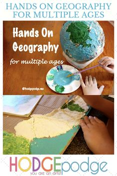 Hands On Geography for Multiple Ages - Hodgepodge Hands On Geography, Geography Activities, Maps Video, Big Picture, Special Education, Art Lessons, Homeschool, Age, History