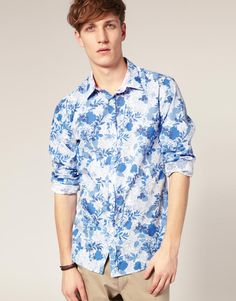 Lovely #blue, #floral shirt. £95