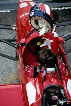 Gerhard Berger in the cockpit of his Ferrari in 1988.