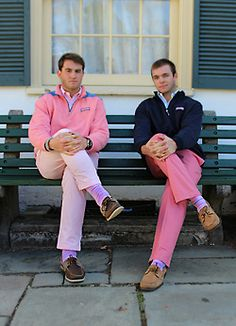 pink and preppy men's fashion.