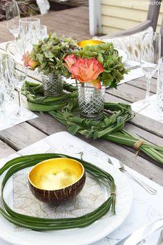 Feine eklektische Tischdeko fürs Wochenende