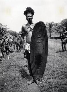 Africa | Bundu warrior. Belgium Congo. ca. 1959 | ©H. Rosy