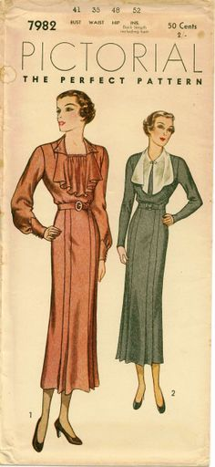 1920s Vintage Sewing Pattern Pictorial Review