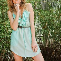Ruffle Dress Seafoam, $75, now featured on Fab.
