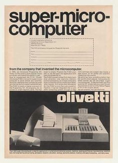 Olivetti P-602 Super Microcomputer Computer Ad (1971).