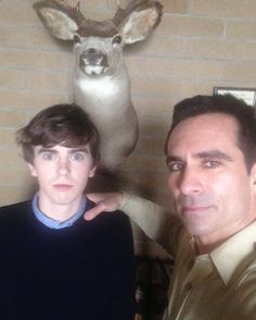 Bates Motel - Norman Bates and Sheriff Romero