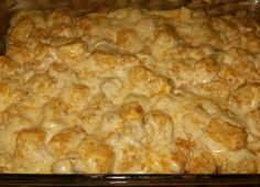 Chicken Tater Tot Casserole from Food.com: This dish is so easy to make & kids are sure to love it.