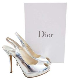 Dior Christian Miss Silver Pumps