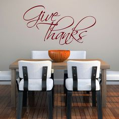 Give Thanks 36 x 20-inch Wall Decal