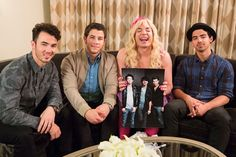 Superfan Sara (played by Jimmy Fallon) gets to meet the Jonas Brothers during a skit on Late Night with Jimmy Fallon.
