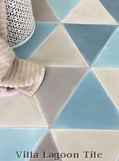 """""""Troika"""" Triangular Cement Tile, from Villa Lagoon Tile."""