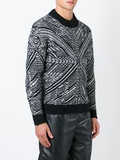 Les Hommes patterned intarsia sweater