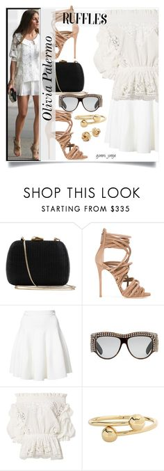 """""""Olivia Palermo - Get the look"""" by goreti ❤ liked on Polyvore featuring Serpui, Giuseppe Zanotti, Carven, Gucci, Faith Connexion, J.W. Anderson, Saks Fifth Avenue, CelebrityStyle, polyvoreeditorial and ruffledtops"""