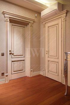 White doors classic in the interior Bedroom Door Design, Door Design Interior, Main Door Design, Wooden Door Design, Bedroom Doors, Wooden Doors, Oak Doors, Classic Doors, Moldings And Trim