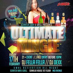 @scratchbar254 #at254 #entertainment #nairobi #february #aquarius #friday #tgif #membersnight #live #whiskey #hangout #guys #bosslady #diva #divas #happy #food #kenya #tag2post #bestdj #bottles -  Event : The Ultimate Mingle with KWAL.  Start Time : 06:00PM  Event Dj : Dj Fella Fella and Dj Dexx  Day of a Week : Friday  Scratch Bar and Grill  Shared from Scratch App.  #scratchapp #scratchbargrill #impsoft #partytime #nightlife #fun #famousgrouse  #eptx #crowd