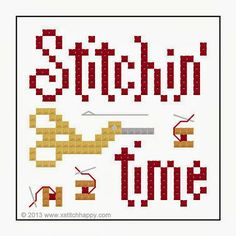 Cross Stitch Happy: Stitchin' Time Scissor Fob