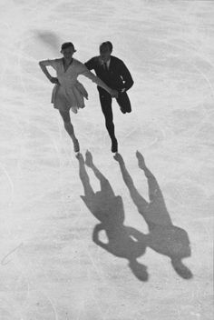 Maxi Herber and Ernst Baier on their way to victory in the Pairs event during the 1936 Olympic Winter Games in Garmisch-Partenkirchen. Winning at the age of 15 years, 4 months, and 5 days, Herber remains the youngest ever female Olympic Champion in Figure Skating, while Baier would also win a Silver medal in the Men's Singles event at these Games.