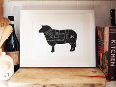 Set Of Meat Prints: Sheep