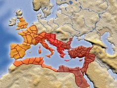 The Roman Empire in A.D. 337 - at the death of Constantine the Great