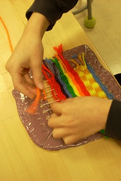 Clay loom weaving