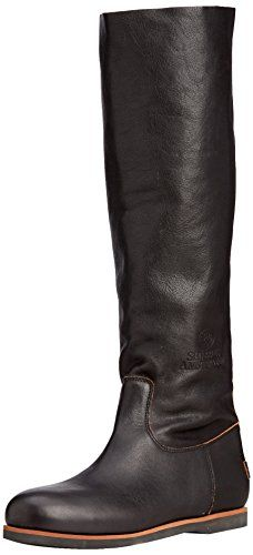 Shabbies Amsterdam Shabbies 42cm high boot Norfolk sole Liam, Damen  Langschaft Stiefel, Schwarz (