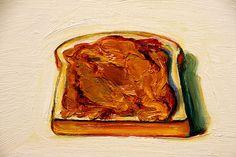 Peanut Butter Sandwich (detail) | Wayne Thiebaud