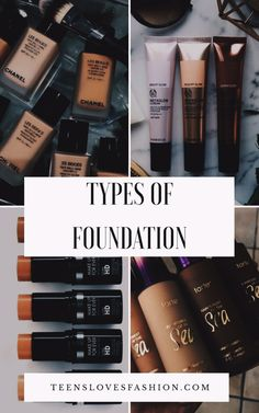 Tipos de bases•• Types of foundation. – TLF♥FASHION BLOG