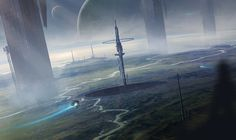 Pillars by Aeon-Lux alien planet world space station spaceship spacecraft landscape location environment architecture | Create your own roleplaying game material w/ RPG Bard: www.rpgbard.com | Writing inspiration for Dungeons and Dragons DND D&D Pathfinder PFRPG Warhammer 40k Star Wars Shadowrun Call of Cthulhu Lord of the Rings LoTR + d20 fantasy science fiction scifi horror design | Not Trusty Sword art: click artwork for source