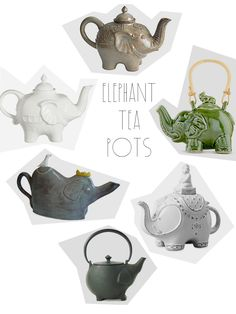 elephant tea pots  Oh my fucking LORD. My two favorite things!?