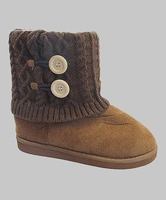 This Camel Button GG Boot is perfect! #zulilyfinds