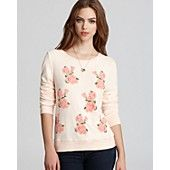 WILDFOX Sweatshirt - Light Pink with Roses   ♡ed by http://www.LadyXeona.com