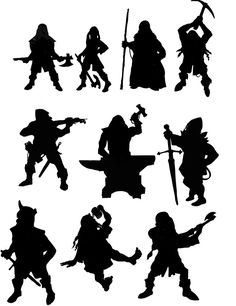 Dwarf Silhouettes (DF Fanart)  ★ || CHARACTER DESIGN REFERENCES™ (https://www.facebook.com/CharacterDesignReferences & https://www.pinterest.com/characterdesigh) • Love Character Design? Join the #CDChallenge (link→ https://www.facebook.com/groups/CharacterDesignChallenge) Share your unique vision of a theme, promote your art in a community of over 50.000 artists! || ★