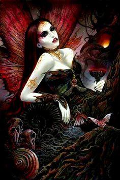 Gothic Fairy Faery Fairies fantasy art