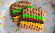 burger coasters by POP THAT CASSETTE!