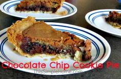 Easy Chocolate Chip Cookie Pie on MyRecipeMagic.com