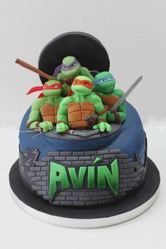 Ninja Turtle Birthday Cake, Ninja Turtle Cakes, Turtle Birthday Parties, Ninja Turtle Cake Topper, Ninja Cake, 4th Birthday, Birthday Cakes, Birthday Ideas, Decorating Supplies