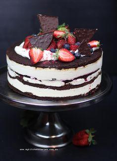 Brownie Ice cream Layer Cake