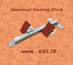 Snatch your Feet from the universal starting block in athletic training or competitions for just £40.18 use coupon code AMBER20 http://www.ambersport.co.uk/track-and-field-gear/track-equipment/universal-starting-block.html