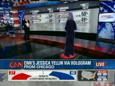CNN Hologram TV First - During an election, Jessica Yellin was recorded as a hologram and beamed into the studio