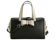 Betsey Johnson Tough Love Bow Satchel.  I. Want. This. Bag.