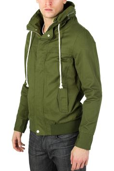 Biography Wear Commando  Vintage/Pre-Washed Full zip-up Jacket w/upper and Lower snap on Button.
