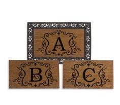 Monogram door mat & frame Bed bath & beyond