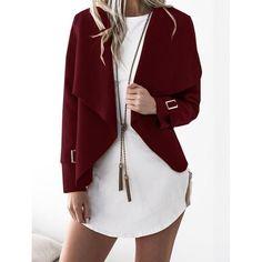 2018 Autumn Female Open Stitch Jackets Women Winter Warm Outfit Bomber Long Sleeve Outerwear Jacket Tops Plus Size Coats Fashion Mode, Fashion Trends, Style Fashion, Cheap Fashion, Waterfall Jacket, Mode Simple, Plus Size Coats, Style Casual, Jacket Brands