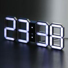 Digital LED Clock Black