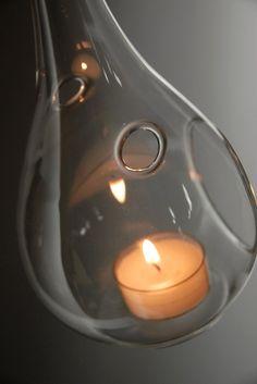 Hanging Teardrop Tea Light Holder