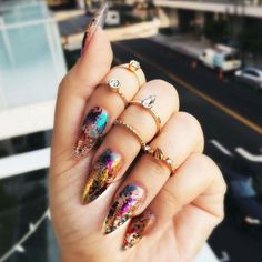 15 amazing foil nails for long and short manicures 2 - 15 amazing foil nails for long and short manicures