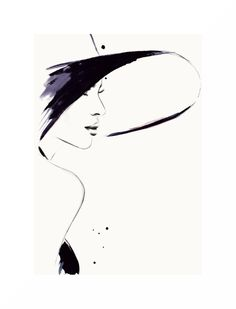 """Cappuccino Flirt"" fashion illustration by Kornelia Debosz"