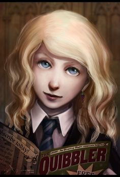 Pin for Later: Harry Potter Characters Are Reimagined in AMAZING Fan Art Luna Lovegood and the Quibbler Fanart Harry Potter, Harry Potter Artwork, Harry Potter Fan Art, Harry Potter Books, Harry Potter Characters, Harry Potter Fandom, Harry Potter Universal, Harry Potter World, Disney Characters