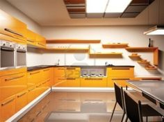orange kitchen design ideas gives the impression of comfortable, luxurious, beautiful and elegant